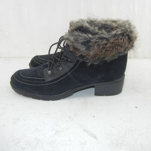 Sporto Holly Leather Suede Lace Up Snow Boot